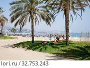 Beach in Malaga (2018 год). Редакционное фото, агентство Caro Photoagency / Фотобанк Лори