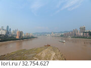 Купить «Chongqing, China, view of the city on the Yangtze River», фото № 32754627, снято 4 августа 2012 г. (c) Caro Photoagency / Фотобанк Лори