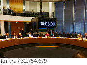 Berlin, Germany, Round Table in the Federal Chancellery (2018 год). Редакционное фото, агентство Caro Photoagency / Фотобанк Лори