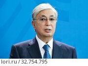 Berlin, Germany - Kassim-Schomart Tokayev, President of the Republic of Kazakhstan. (2019 год). Редакционное фото, агентство Caro Photoagency / Фотобанк Лори