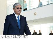 Berlin, Germany - Kassim-Schomart Tokayev, President of the Republic of Kazakhstan in the Chancellery. (2019 год). Редакционное фото, агентство Caro Photoagency / Фотобанк Лори