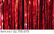 Купить «Red rain from tinsel. Dynamic background in shining lights and sparkling particles. Beautiful red background with shiny glitter sparkles. Festive mood. Christmas or holiday theme», видеоролик № 32755075, снято 20 декабря 2019 г. (c) Dmitry Domashenko / Фотобанк Лори