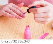 Купить «Beauty products nail care tools pedicure closeup», фото № 32756343, снято 31 мая 2017 г. (c) Elnur / Фотобанк Лори