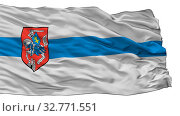Siedlce City Flag, Country Poland, Isolated On White Background. Стоковое фото, фотограф Zoonar.com/Igor Lubnevskiy / easy Fotostock / Фотобанк Лори
