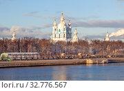 Санкт-Петербург. Смольный собор. Стоковое фото, фотограф Сергей Афанасьев / Фотобанк Лори