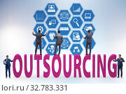 Concept of outsourcing in modern business. Стоковое фото, фотограф Elnur / Фотобанк Лори