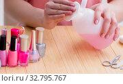 Купить «Beauty products nail care tools pedicure closeup», фото № 32795767, снято 31 мая 2017 г. (c) Elnur / Фотобанк Лори