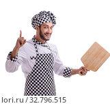 Купить «Male cook isolated on the white background», фото № 32796515, снято 6 июля 2017 г. (c) Elnur / Фотобанк Лори