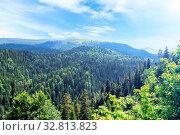 Купить «Caucasian mountains. Goderdzi Pass», фото № 32813823, снято 13 июля 2019 г. (c) Евгений Ткачёв / Фотобанк Лори