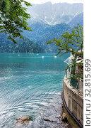 Озеро Рица. Абхазия. Стоковое фото, фотограф Евгений Ткачёв / Фотобанк Лори
