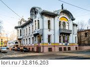 Москва, главный дом городской усадьбы И.А. Миндовского. Редакционное фото, фотограф glokaya_kuzdra / Фотобанк Лори