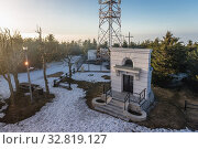 Chapel on a top of Wielka Sowa (Great Owl) mount in Landscape Park of Gory Sowie (Owl Mountains range) in Central Sudetes, Poland. Стоковое фото, фотограф Konrad Zelazowski / easy Fotostock / Фотобанк Лори