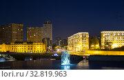 Купить «Night view of the sculptural compositions near the Heydar Aliyev Center in Baku. Republic of Azerbaijan», фото № 32819963, снято 24 сентября 2019 г. (c) Евгений Ткачёв / Фотобанк Лори