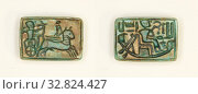 Купить «Plaque: King in Chariot Shoots Enemy/King Seated in the Barque of Amun, New Kingdom, Dynasty 18–19 (about 1570–1186 BC), Egyptian, Egypt, Steatite, 1.6 × 1.3 × 0.6 cm (5/8 × 1/2 × 1/4 in.)», фото № 32824427, снято 5 июня 2020 г. (c) age Fotostock / Фотобанк Лори
