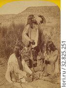 Купить «Kindling a Fire by Friction. Kai-Vav-Its. A tribe of..Pai Utes, living on..Kai-bab Plateau,..Grand Canon..Colorado.., John K. Hillers (American, 1843 - 1925), 1874, Albumen silver print», фото № 32825251, снято 17 июня 2019 г. (c) age Fotostock / Фотобанк Лори