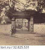 Giggleswick Church Gates., M. Horner (British, active Settle, England 1860s), 1860s, Albumen silver print (2019 год). Редакционное фото, фотограф ARTOKOLORO QUINT LOX LIMITED / age Fotostock / Фотобанк Лори