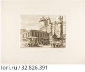 Купить «The Grand Châtelet, Paris, c. 1780, after an earlier drawing, 1861, Charles Meryon (French, 1821-1868), printed by Pierron (French, 19th century), published...», фото № 32826391, снято 6 июня 2020 г. (c) age Fotostock / Фотобанк Лори