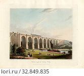 Купить «Viaduct across the Sankey Valley, Viaduct over the Sankey Brook on the railway Liverpool and Manchester, signed: T. T. Bury (del.), H. Pyall (sculp.),...», фото № 32849835, снято 25 мая 2020 г. (c) age Fotostock / Фотобанк Лори