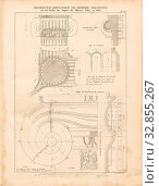 Купить «Floor plan and side view of the ionic corner cap, Details of the Temple of Minerva Polias in Athens, signed: died in K. Kolbe Berlin, T. 34, after p. 116...», фото № 32855267, снято 26 мая 2020 г. (c) age Fotostock / Фотобанк Лори