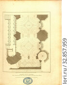 Купить «Henry VII Chapel, Plan of the Western and the South aile with an indication of the groining of the Roof, Stalls, Floor plan of the west side of the Henry...», фото № 32857959, снято 14 июля 2020 г. (c) age Fotostock / Фотобанк Лори