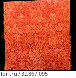 Islamic, Iranian, Seljuk Textle Fragment, 12th Century, Silk threads. Редакционное фото, фотограф ARTOKOLORO QUINT LOX LIMITED / age Fotostock / Фотобанк Лори