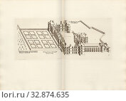 The pavilion says Folambray. Desseing of the bastion and garden susdict With portion of the doz, Château de Folembray in France, Signed: FD, Imp. Lemercier... Редакционное фото, фотограф ARTOKOLORO QUINT LOX LIMITED / age Fotostock / Фотобанк Лори