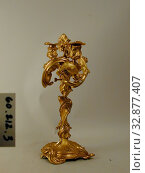Купить «Justin Aurele Meissonnier, French, 1675-1750, Candelabra, 18th Century, Gilt bronze, Overall: 16 7/8 × 11 3/4 × 6 3/4 inches (42.9 × 29.8 × 17.1 cm)», фото № 32877407, снято 3 июля 2020 г. (c) age Fotostock / Фотобанк Лори