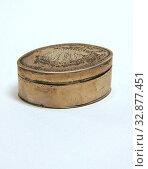 Купить «Thomas Phipps, English, Edward Robinson II, English, Nutmeg Box, 1785/1786, silver, Height x width x depth:», фото № 32877451, снято 2 июля 2020 г. (c) age Fotostock / Фотобанк Лори