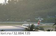 Купить «NordWind Boeing 777 landing», видеоролик № 32884135, снято 26 ноября 2019 г. (c) Игорь Жоров / Фотобанк Лори