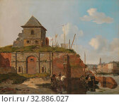 Купить «City Wall with Gunpowder Magazine, Stadswal with powder magazine where a sentry is waiting. In the foreground a rider with a horse., Carel Jacobus Behr...», фото № 32886027, снято 4 августа 2020 г. (c) age Fotostock / Фотобанк Лори