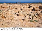 Купить «The remains of the ancient Roman city of Nea Pafos. Paphos Archaeological Park. Cyprus», фото № 32892715, снято 8 июня 2018 г. (c) Serg Zastavkin / Фотобанк Лори
