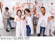 Купить «Young people posing as zombies», фото № 32893107, снято 8 октября 2018 г. (c) Яков Филимонов / Фотобанк Лори