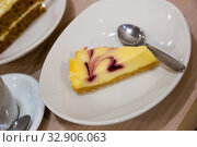 Купить «Berry swirl cheesecake», фото № 32906063, снято 28 января 2020 г. (c) Яков Филимонов / Фотобанк Лори