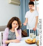Купить «Offended mother after quarrel», фото № 32909951, снято 5 июня 2020 г. (c) Яков Филимонов / Фотобанк Лори