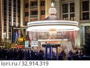 Путешествие в Рождество. Москва, Россия. Редакционное фото, фотограф Андрей Пожарский / Фотобанк Лори