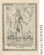 Riedsardus Elinus or Aurindulius, last king of the West Frisians Ridsardus Elinus sev Aurindulius. Rex Frisiae Occidentalis Ultimus (title on object) Kings... Редакционное фото, фотограф ARTOKOLORO QUINT LOX LIMITED / age Fotostock / Фотобанк Лори