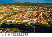 Купить «Historic center of Czech town of Pisek», фото № 32922315, снято 11 октября 2019 г. (c) Яков Филимонов / Фотобанк Лори