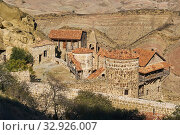 Georgia, Caucasus, Kakheti, Davit Gareja, Lavra church. Стоковое фото, фотограф Philippe Michel / age Fotostock / Фотобанк Лори