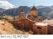 Armenia. Noravank Monastery on the background of the surrounding mountains. Стоковое фото, фотограф Степанов Илья / Фотобанк Лори