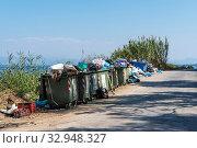 Garbage mountains, rubbish, Kerkyra, Corfu, Greece, Europe, Muellberge, Abfall, Kerkyra, Korfu, Griechenland, Europa. Стоковое фото, фотограф Zoonar.com/Barbara Boensch / age Fotostock / Фотобанк Лори