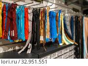 Купить «Colorful zippers on shelf in textile store, nobody», фото № 32951551, снято 8 ноября 2019 г. (c) Tryapitsyn Sergiy / Фотобанк Лори