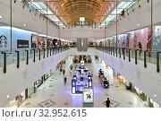 Купить «Doha, Qatar - Nov 18. 2019. Interior of Doha City Center - Shopping Center.», фото № 32952615, снято 18 ноября 2019 г. (c) Володина Ольга / Фотобанк Лори