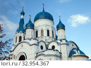 Domes of cathedral of the Holy Virgin in Gatchina, Russia. Стоковое фото, фотограф Юлия Кузнецова / Фотобанк Лори