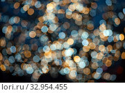Купить «Texture background blue, yellow and silver glitter. Abstract background with bokeh effect.», фото № 32954455, снято 14 декабря 2019 г. (c) Юлия Кузнецова / Фотобанк Лори