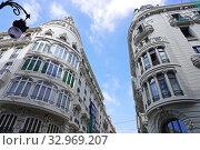 Купить «Neoclassical buildings in the city of Valencia. Comunidad Valenciana, Spain, Europe.», фото № 32969207, снято 20 июня 2019 г. (c) age Fotostock / Фотобанк Лори