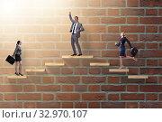 Купить «Gender discrimination concept with promotions», фото № 32970107, снято 3 июня 2020 г. (c) Elnur / Фотобанк Лори