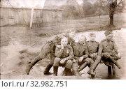 В дни отечественной войны. Под Берлином возле речки. 29.04.1945. Стоковое фото, фотограф Retro / Фотобанк Лори