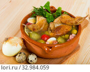 Bowl with poultry saltwort soup. Стоковое фото, фотограф Яков Филимонов / Фотобанк Лори