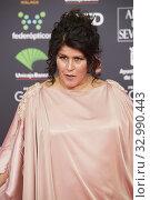 Laura Baena attends 34th Goya Cinema Awards 2020 - Red Carpet at Jose Maria Martin Carpena Stadium on January 26, 2020 in Malaga, Spain. Редакционное фото, фотограф Manuel Cedron / age Fotostock / Фотобанк Лори