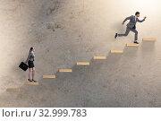 Купить «Gender discrimination concept with promotions», фото № 32999783, снято 19 февраля 2020 г. (c) Elnur / Фотобанк Лори